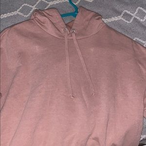 a cropped hoodie